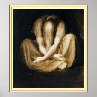 """Arte de la pared - """"silencio"""" por Henry Fuseli"""