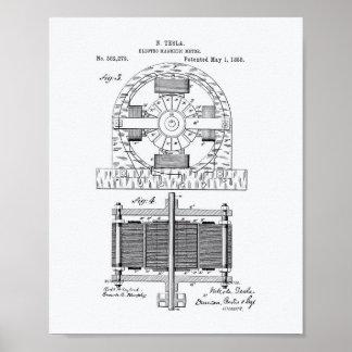 Arte de la patente de Nikola Tesla 1888 - Libro