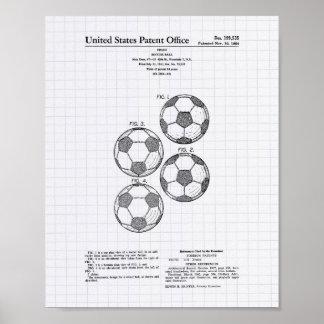 Arte de la patente del balón de fútbol del vintage