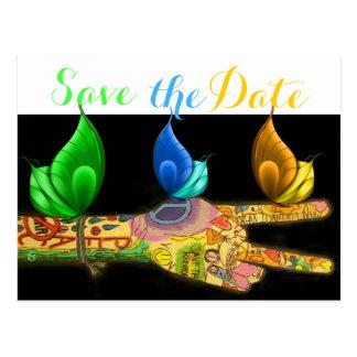 Arte de la paz - ahorre la fecha - copyright a postal