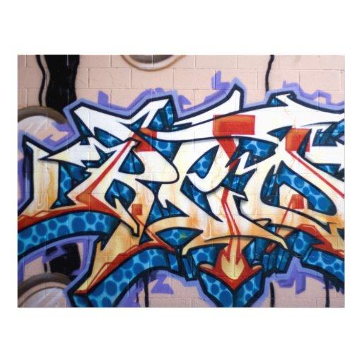 Arte de la pintada de la calle tarjeton