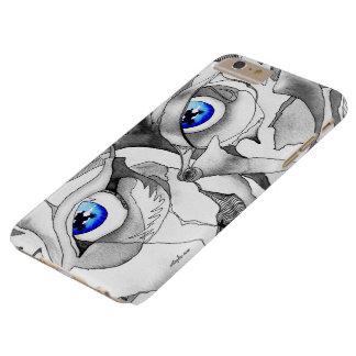 Arte de la pintada de los ojos azules funda barely there iPhone 6 plus