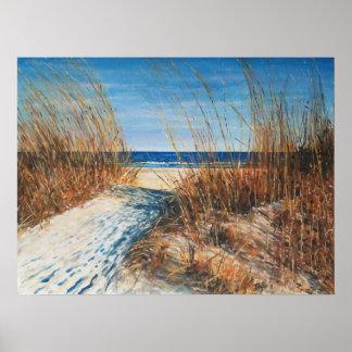 Arte de la playa - dunas de arena hermosas que