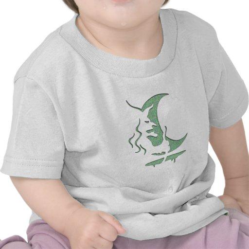 """Arte de la """"puntos verdes malvados/blanco de la in camisetas"""