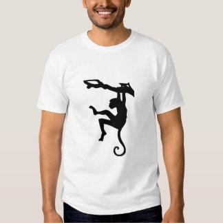 Arte de la silueta del mono camisas