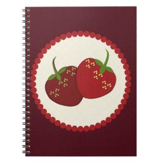 Arte de la tarta de crema de la fresa del verano cuaderno