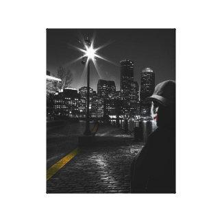 Arte de la vida de noche negra y blanca