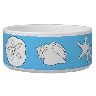 Arte de la vida marina, cuenco de cerámica azul