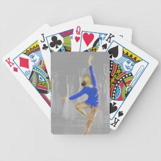 Arte de la vuelta del ballet baraja de cartas bicycle