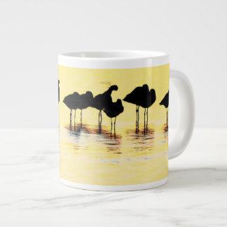 Arte de las aves costeras de los humedales tazas jumbo