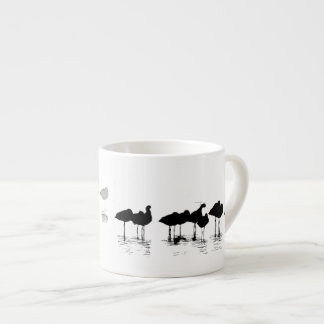 Arte de las aves costeras de los humedales taza espresso