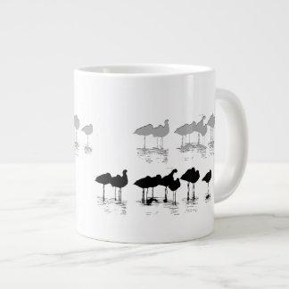 Arte de las aves costeras de los humedales taza grande