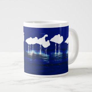 Arte de las aves costeras de los humedales taza jumbo