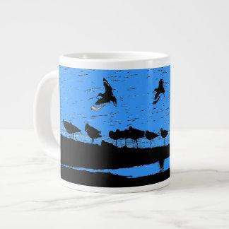Arte de las aves costeras taza extra grande