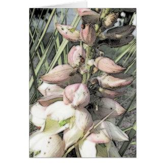 Arte de las floraciones y de las mariquitas de la tarjeta de felicitación