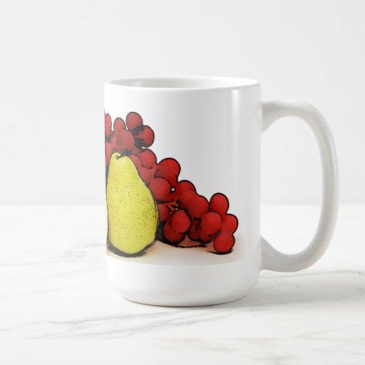 Arte de las frutas tazas de café
