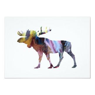 Arte de los alces invitación 12,7 x 17,8 cm