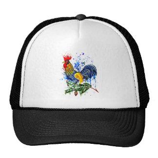 Arte de lujo 5 del gallo gorros bordados