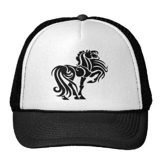 Arte de lujo del caballo gorros