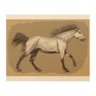"Arte de madera 10"" de la pared del caballo x 8"""