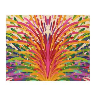 Arte de madera alegre y colorido dibujado mano de cuadros de madera