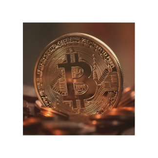 Arte de madera de la pared de Bitcoin