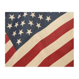 Arte de madera de la pared de la bandera americana