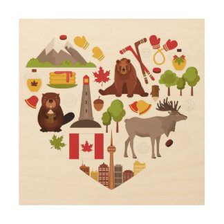 Arte de madera de la pared del amor canadiense