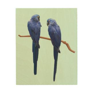 Arte de madera de la pared del dúo del Macaw del