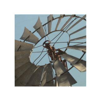 Arte de madera de la pared del molino de viento