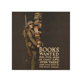 Arte de madera de la pared del soldado del libro