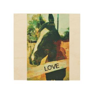 Arte de madera del caballo del amor