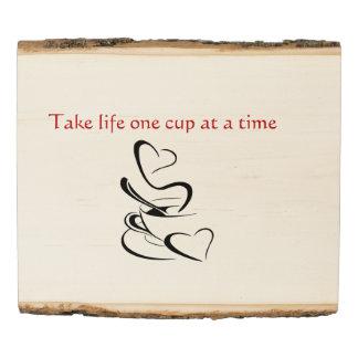 Arte de madera del café