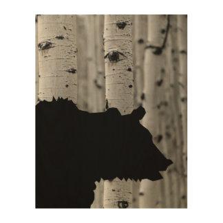 Arte de madera hermoso de la pared - silueta del