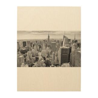 Arte de madera NYC Manhattan New York City de la