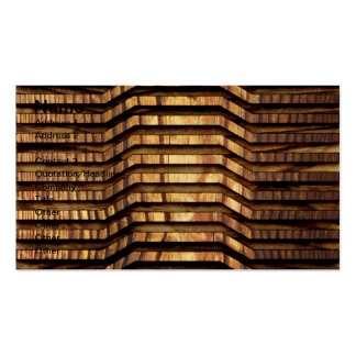 Arte de madera tarjeta de negocio
