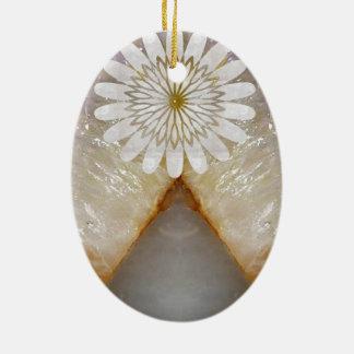 Arte de mármol cristalino del templo del vintage adorno ovalado de cerámica