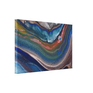 Arte de mármol líquido de los remolinos metálicos