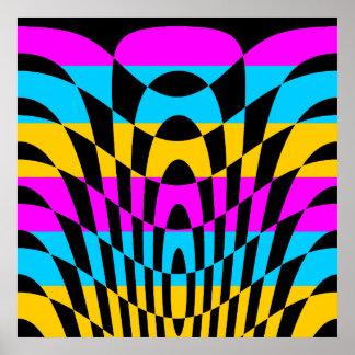 Arte de Op Sys del vintage del tigre 80s de Core Impresiones