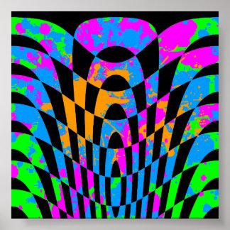 Arte de Op. Sys. del vintage del tigre 80s de Core Poster