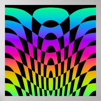 Arte de Op Sys del vintage del tigre 80s de Core Poster