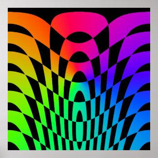 Arte de Op. Sys. del vintage del tigre 80s de Core Impresiones