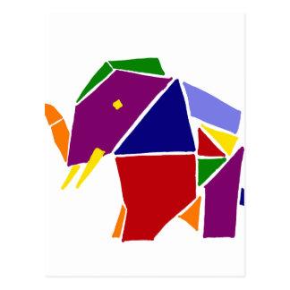 Arte de Origami del elefante de la diversión Postal