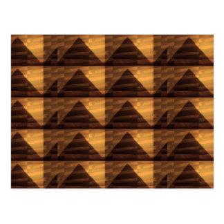 ARTE de oro de la PIRÁMIDE: ENERGÍA elegante de lo Tarjetas Postales