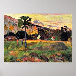Arte de Paul Gauguin: Venido aquí, pintando por
