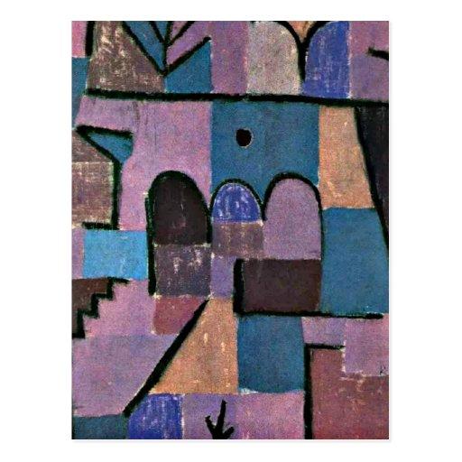 Arte de Paul Klee: Jardín oriental Postales
