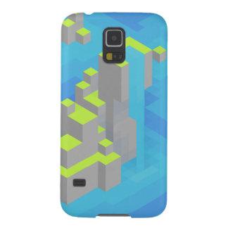 Arte de Trixel de las islas del mar Funda Galaxy S5