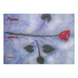 Arte de vetear la tarjeta de visita del rosa rojo