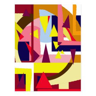 Arte decorativo colorido postal