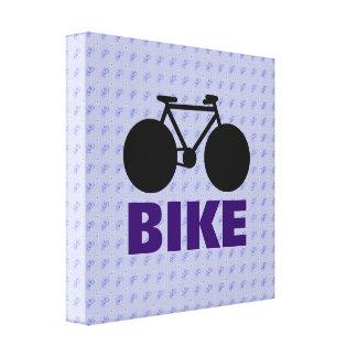arte decorativo de la bicicleta estilizada lienzo envuelto para galerías